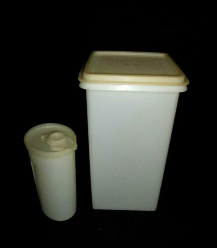 Vintage Tupperware White Saltine Saver Cracker Keeper and Sweet Saver
