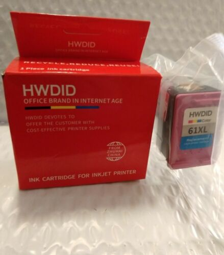 61 XL Color Ink Cartridge by HWDID for HP Deskjet 1510 2540