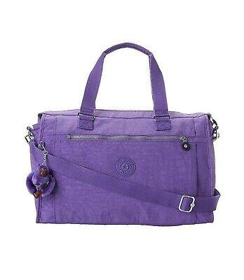 NWT KIPLING Pauline Luggage Carry On Travel Bag Crossbody Vivid Purple SL4774