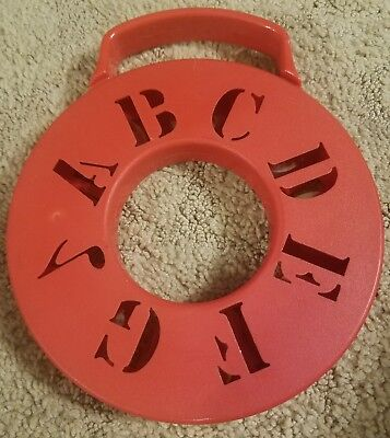 Vintage Hard Plastic ABC Alphabet Tambourine Unique instrument Toy