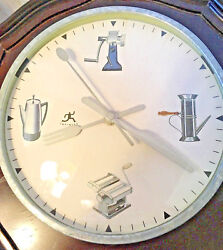 Infinity 8 Wall Clock with Kitchen Theme-Retro Style Appliances & Utensil Arms