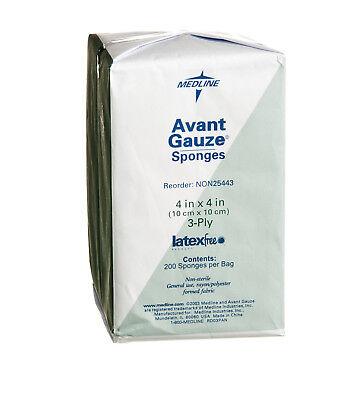 Medline Avant Gauze Non Woven Non Sterile Sponges  4  X 4   3 Ply  Case Of 4000