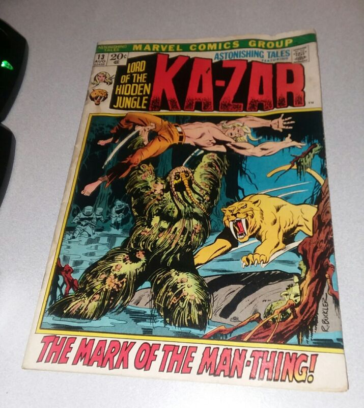 Astonishing Tales 13 Marvel Comics 1972 3rd appearance Man-Thing 1st print movie