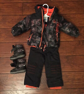 18-24m two piece snowsuit and boots