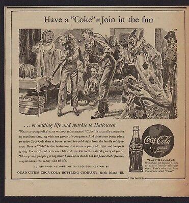 1942 Halloween Fun - Coca Cola Newsp Ad - Quad Cities Coca Cola Bottling Co](Coca Cola Halloween Advertising)