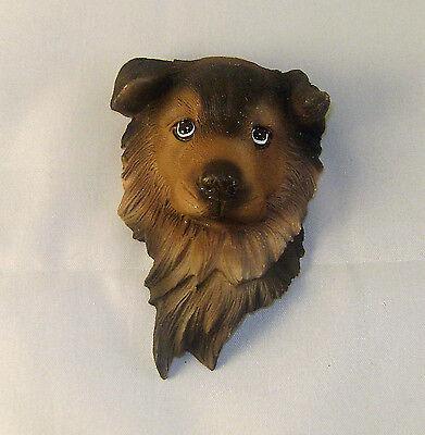 (Cute German Shepherd Puppy Head 3-D  Sculpted Magnet)