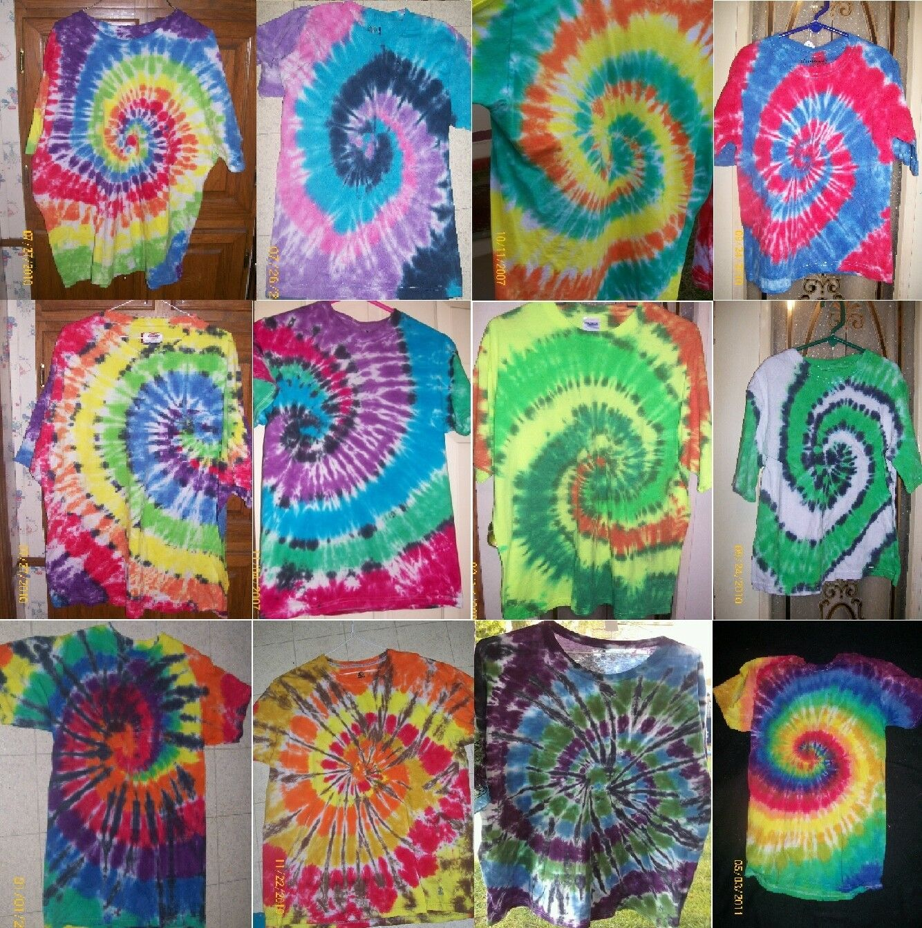Details about KIDS Handmade tie dye shirt - TRADITIONAL - SWIRL / SPIRAL -  you choose colors!