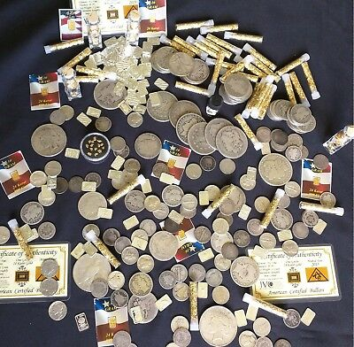 Best  ⚡️GOLD AND SILVER ESTATE LOT SALE! ✯ OLD US COINS ✯ BULLION ✯ .999 SILVER BARS⚡️