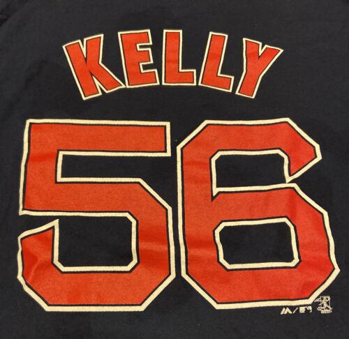 Boston Red Sox JOE KELLY #56 Pitcher Majestic Blue T-Shirt M