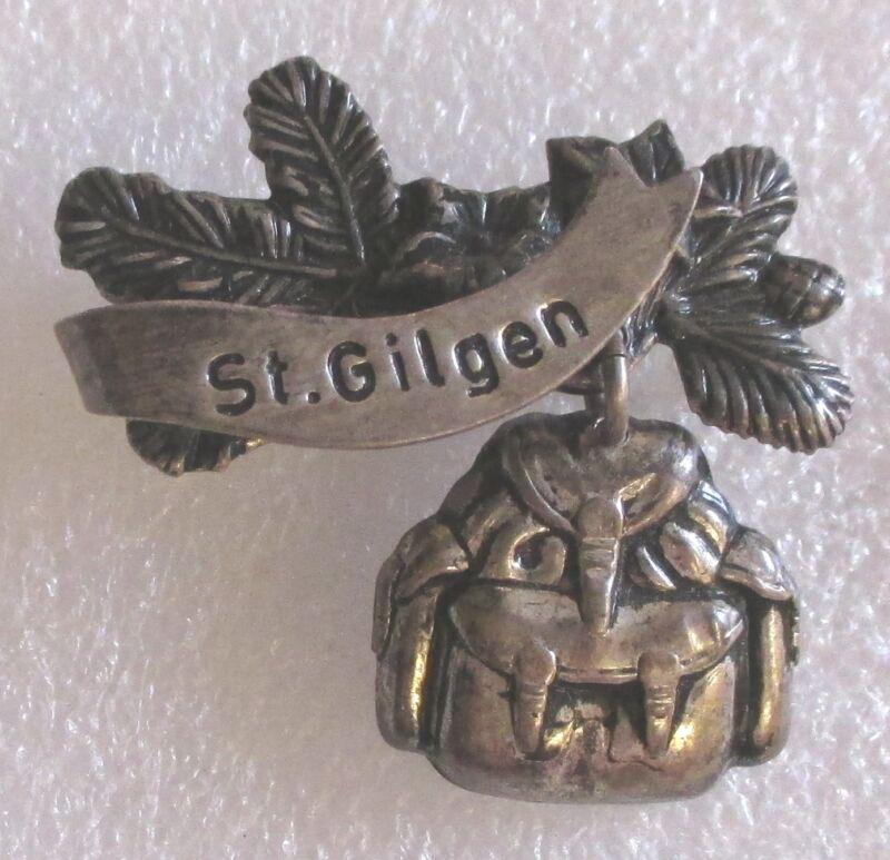 Vintage St. Gilgen, Austria Tourist Travel Souvenir Collector Pin