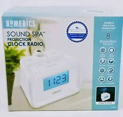 Homedics Time Projection Sound Spa SS4520 Alarm Clock White Noise Maker Morning