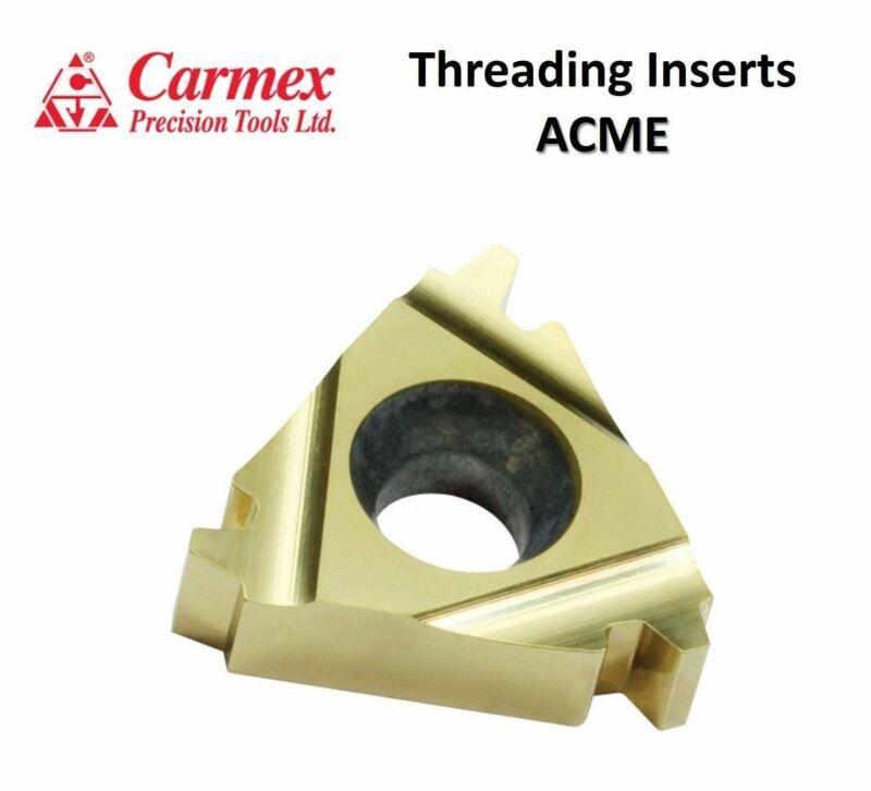5 pcs. Carmex Original ACME Carbide Threading Inserts Turning