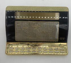 SEIKO World Time Vintage Desk Clock Digital Works Alarm Gold