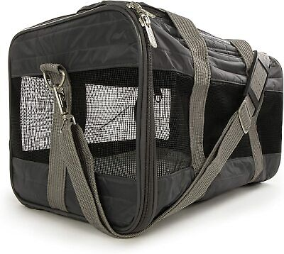 Sherpa Original Deluxe Pet Carrier Medium Soft Side Dog Cat Travel Bag Charcoal