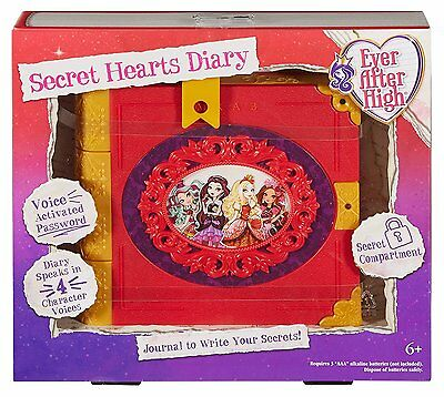 MATTEL Ever After High Secret Hearts Diary Password Journal NEW Electronic Toy