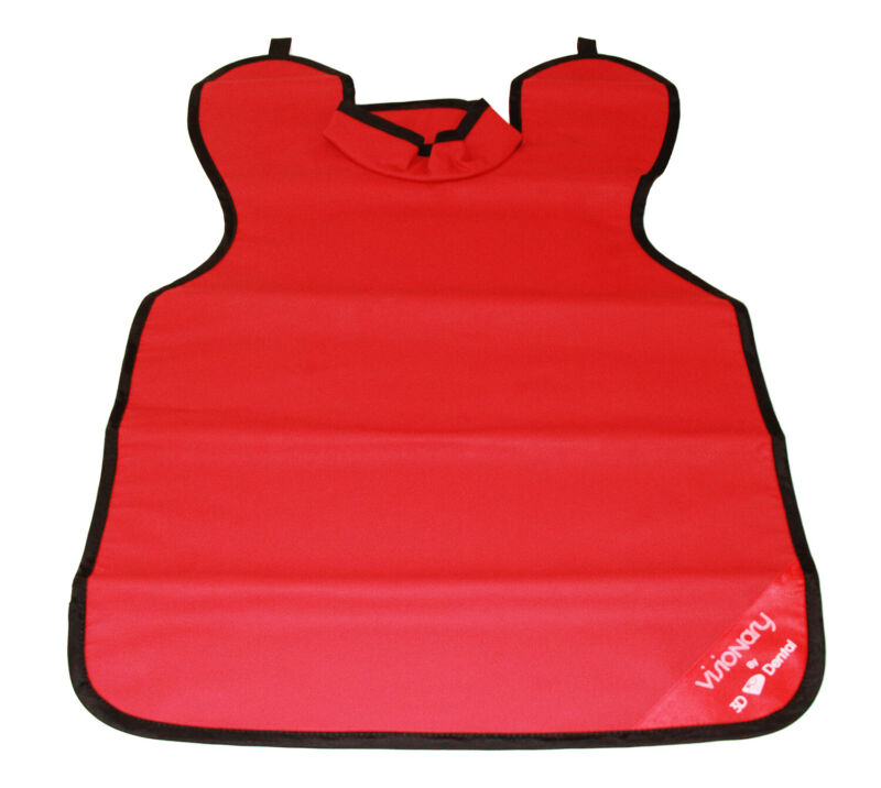 House Brand XAC-ADR 0.3 Medical Grade X-Ray Lead Apron Adult With Collar Red