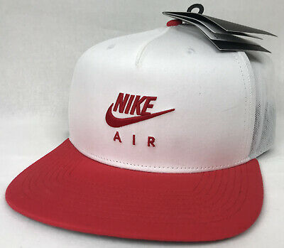 Nike Air Pro Adjustable Snapback Hat Cap White Red 891299-100 Free Shipping