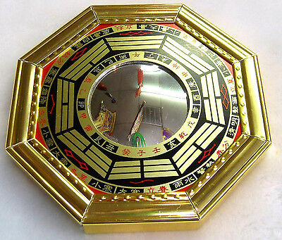 "4.8"" Chinese Oriental Protection Feng Shui Home House Convex Bagua Mirror NEW"