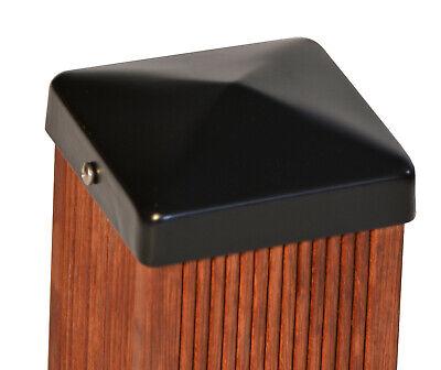 Pfostenkappe Zaunkappe schwarz Pyramide f. Pfosten 9x9 cm, inkl. VA-Schrauben