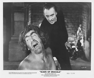 SCARS-OF-DRACULA-photo-CHRISTOPHER-LEE-PATRICK-TROUGHTON-original-publicity-b-w