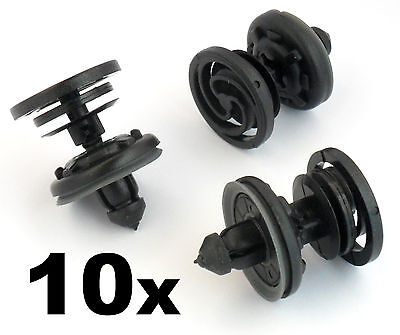 10x Audi Interior Door Card & Trim Panel Mounting / Fastener Clips