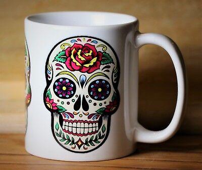 Halloween Sugar Skulls Dia De los Muertos MUG/CUP - De Dia De Halloween