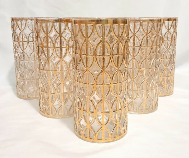6 MCM Imperial Glass Highball Glasses El Tabique De Oro