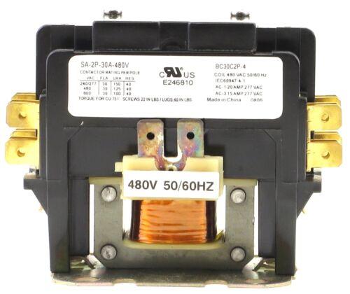 CN-PBC302-480V DEFINITE PURPOSE CONTACTOR 30AMP 2POLE 480V COIL 30 FLA 40 RES