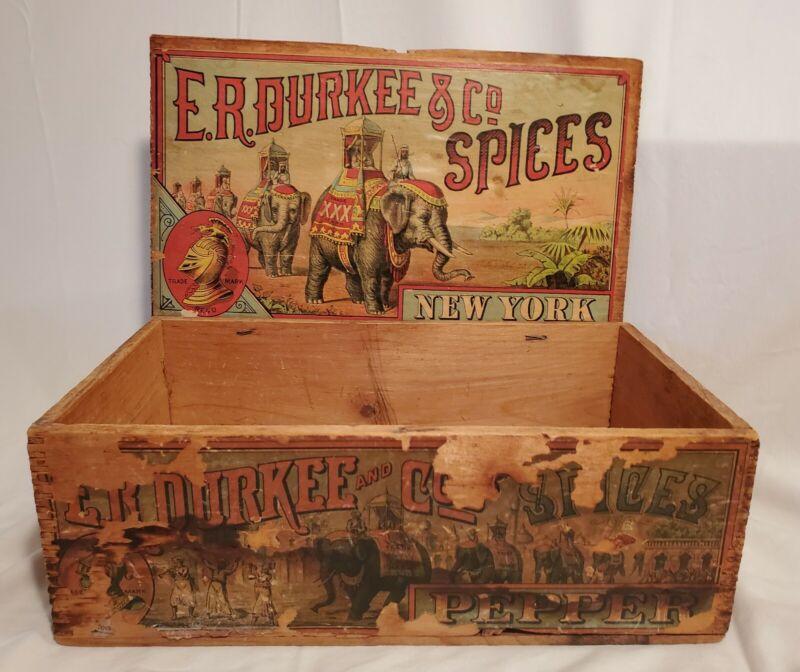 Antique Spice Box DURKEE