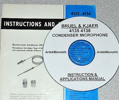 Bruel Kjaer 4135 4136 Condenser Microphone Operatingapplications Manual