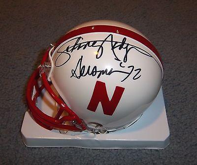 Nebraska Huskers Johnny Rodgers Signed Autographed Mini Helmet 1972 Heisman