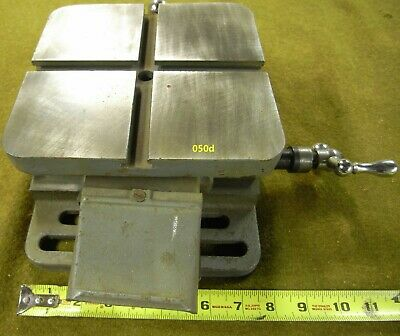 050 Vintage Great Lathe Milling Cross Slide Table 050-049 Cast Iron.