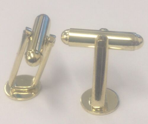 Cufflink With 9mm Disc Gilt Plate with Angled Frame 50 Pieces (25 Pairs)