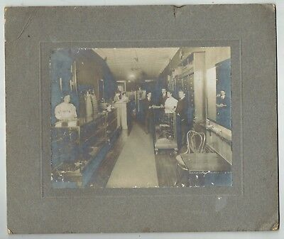 47th Street Photo - Photo originale New York - Magasin Lebeau 121 West 47th Street Coiffeur 1920