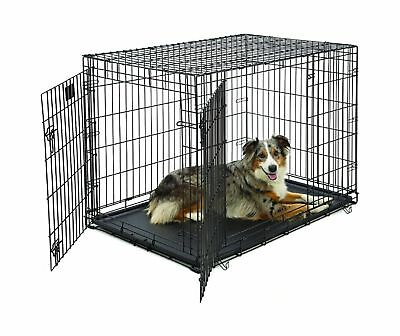 Large Midwest Life Stages - Large Dog Crate | MidWest Life Stages Double Door Folding Metal Dog Crate |
