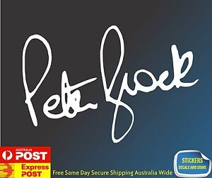 Peter Brock Signature Vinyl Stickers Decals Cars Holden V8 Supercars