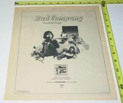 Bad Company Album Release Full Page AD Advert 1979 Desolation Angels Hard Rock