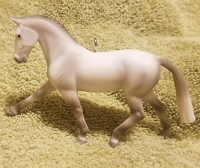 Custom Made Breyer Grey Warmblood Horse Stablemate Christmas Holiday Ornament