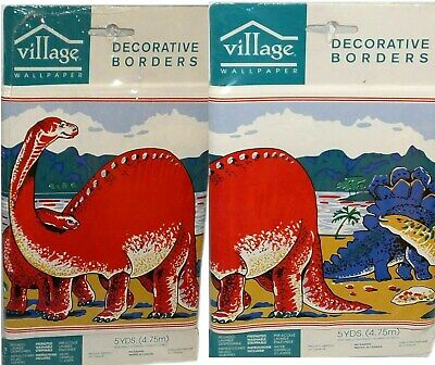 Paleozoic Dinosaurs Decorative Wall Border 5 Yards New Factory Sealed Vintage for sale  Shipping to India
