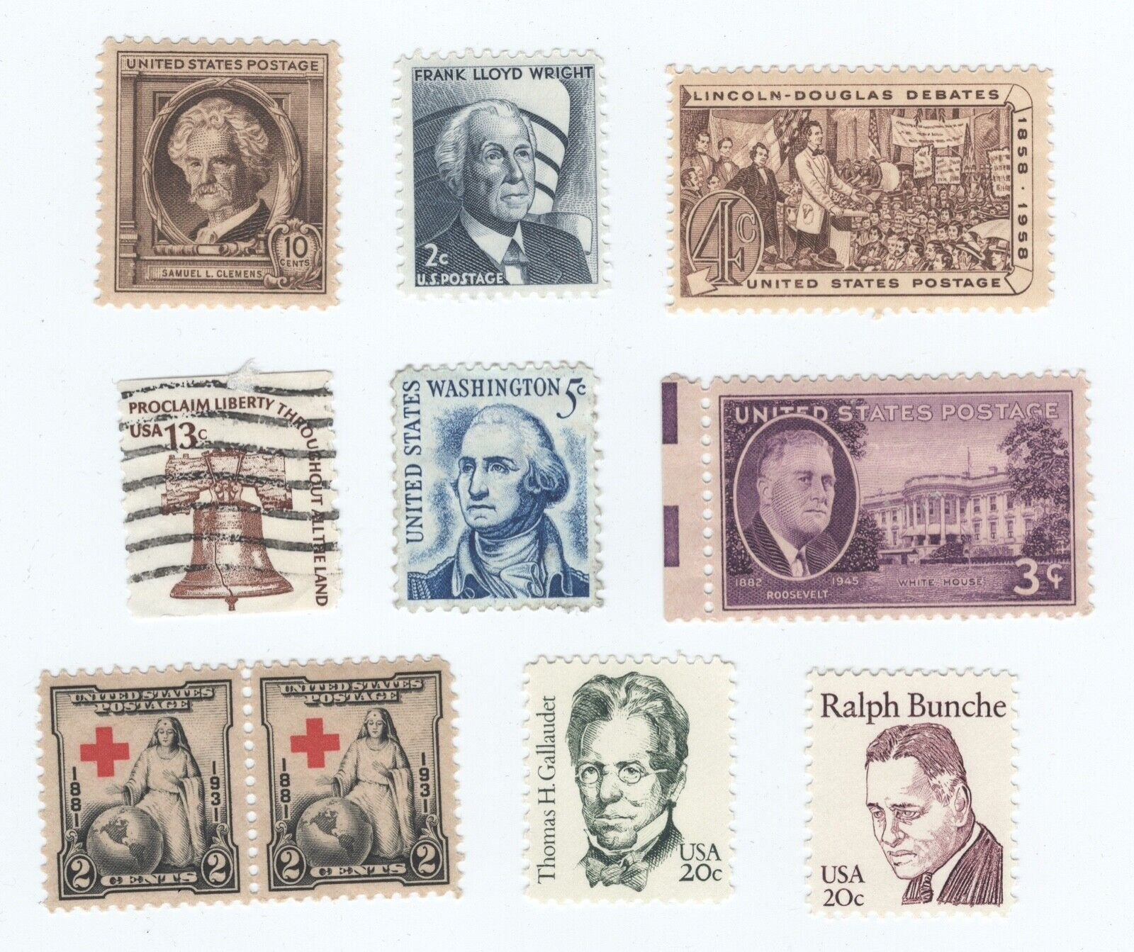 Stamps Various 10 Stamps In Total - $1.99