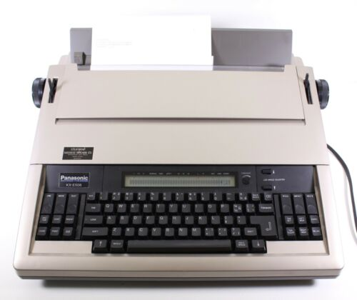 Panasonic Portable Electronic Typewriter KX-E508 w/Ribbon Japan Tested