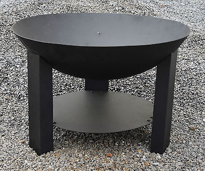 Dekobote, Feuerschale 60 cm Lagerfeuer Feuerkorb Feuerstelle Gartenfeuer modern