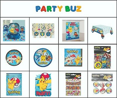 Pokemon Team Children's Birthday Party Tableware