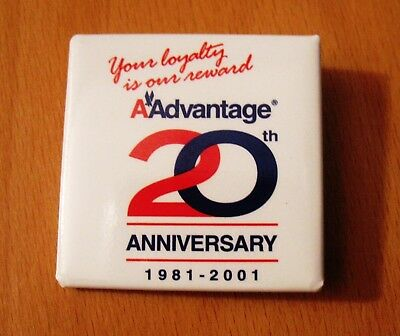 American Airlines  -  RARE collectible PIN    AAdvantage 20 yrs   1981 - 2001