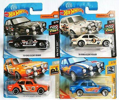 Hot Wheels 4x Escort RS1600 (White, Black, Blue & Orange)