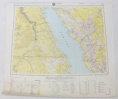 Aswan Africa Vintage Original Defense Mapping Agency Topographic Map