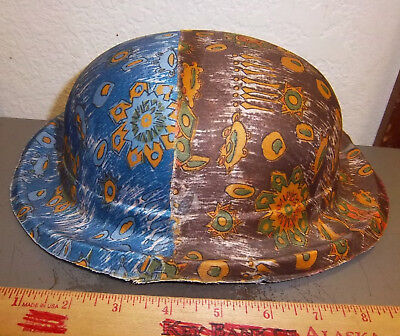 vintage Gauze colorful DERBY Halloween hat from the 1940s, UNIQUE item!!