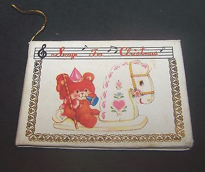 Mini Book Ornament Songs for Christmas Vintage Teddy Bear Rocking Horse Holiday ()