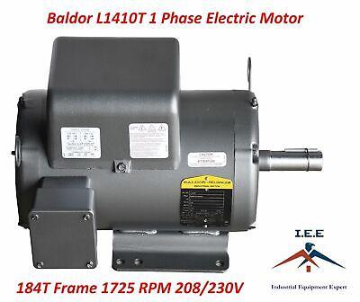 Baldor L1410t 5 Hp 1 Phase 1725 Rpm New Air Compressor Electric Motor