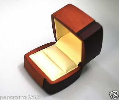Regal Wood Ring Box For Engagement Ring Box Wedding Jewelry Box  B9